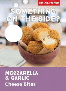 Mozzarella & Garlic Cheese Bites Poster