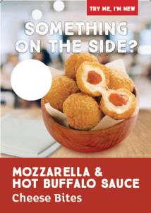 Mozzarella & Hot Buffalo Sauce Cheese Bites Poster