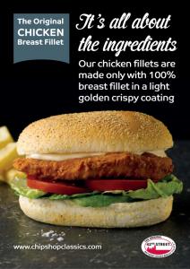 42nd Street Chicken Fillet Burger Poster