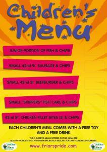 A2 Children's Menu Poster