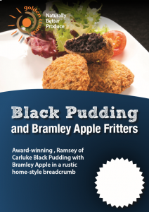 Black Pudding and Bramley Apple Fritters Poster