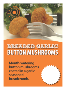 Breaded Garlic Button Mushrooms Posters