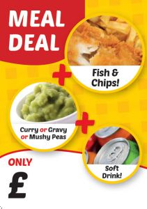 Meal Deal Fish & Chip Poster