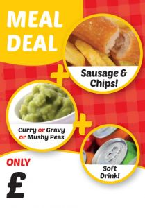 Meal Deal Sausages & Chip Poster