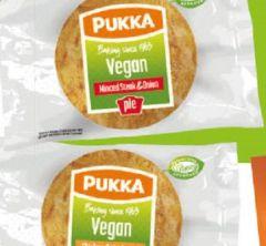 Pukka Wrapped Vegan Minced Chicken & Mushroom Pie. Case: 12