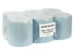 Centrefeed Rolls 190 x Case-125 Blue 2Ply Case-6