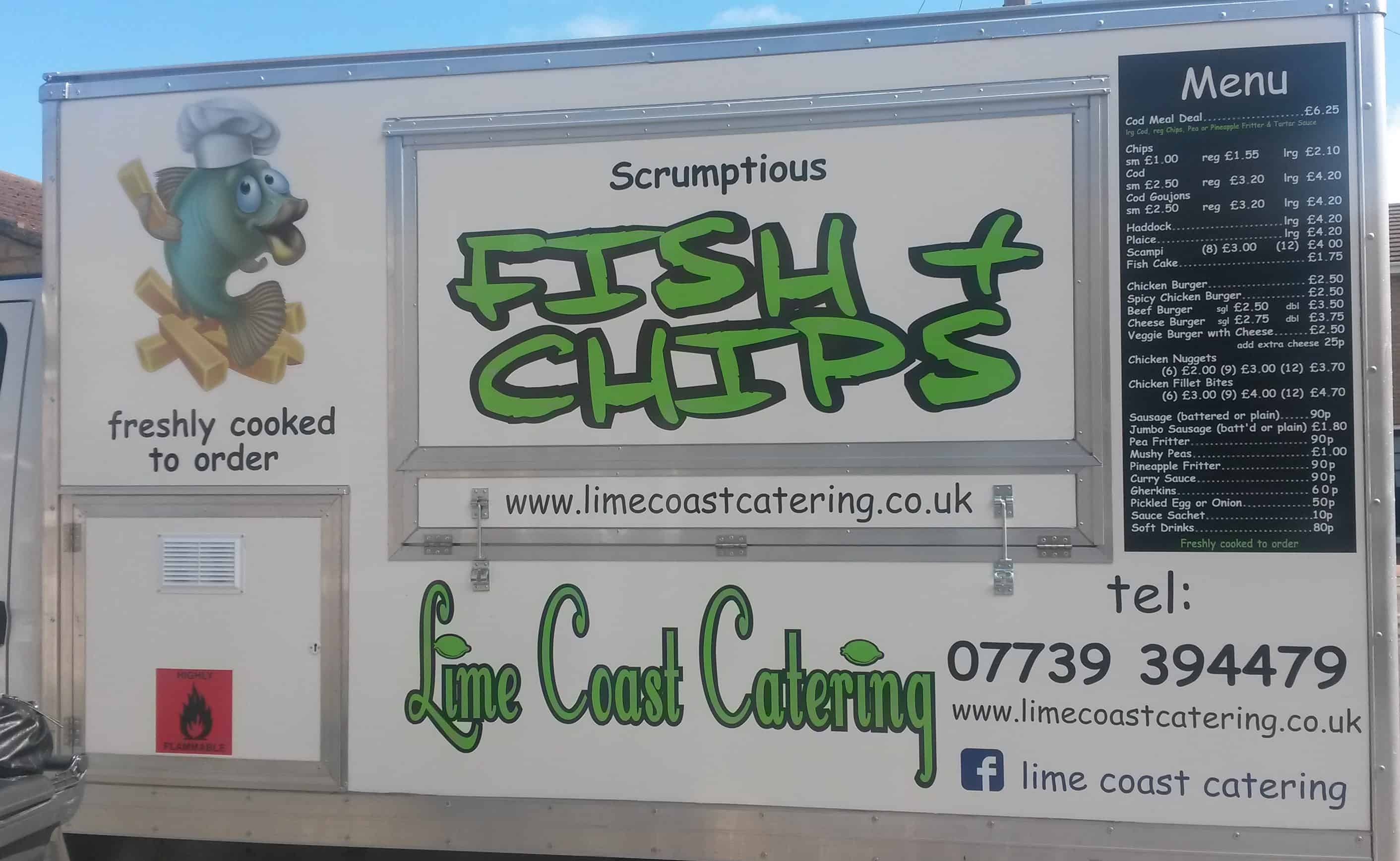 Lime Coast Catering Vehicle