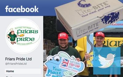 Social media page and logos