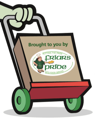 Friars Pride Logo On Trolley