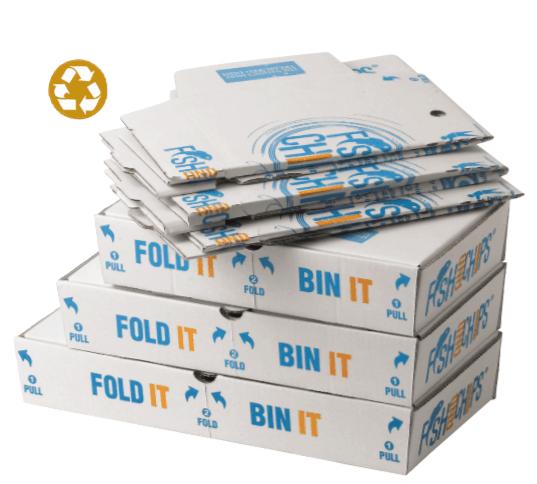 The Fold It Bin It Box. Easy As 1 2 3!