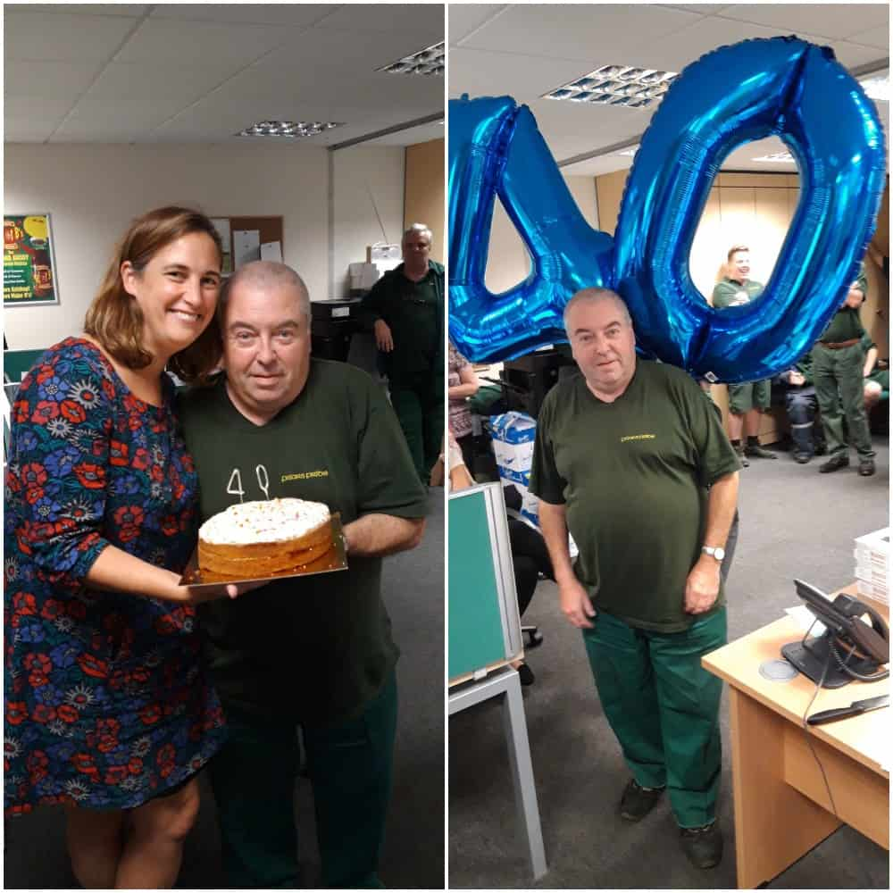 Martin Sheffield 40th Work Anniversary Picture