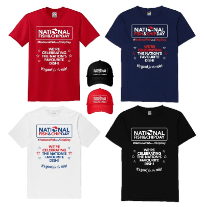 National fish and chip day shirts